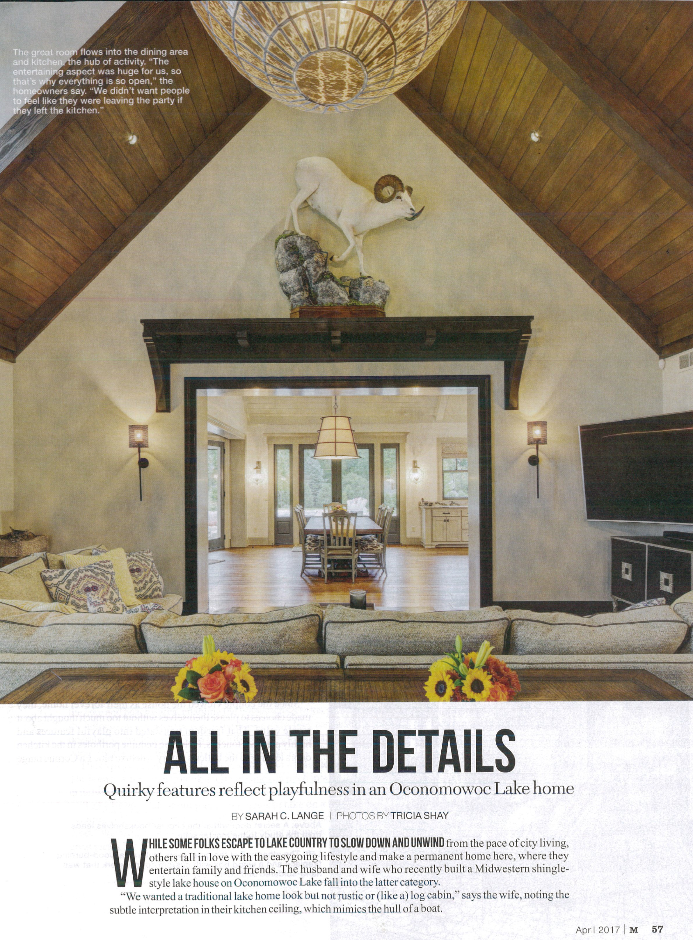 "So excited to have one of our latest projects featured in ""M Magazine."" Check out the story behind this new home on Oconomowoc Lake in Wisconsin!"